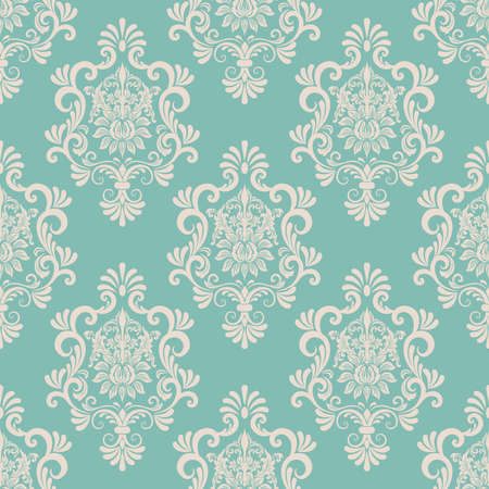 Vector damask seamless pattern background  Elegant luxury texture for wallpapers, backgrounds and page fill