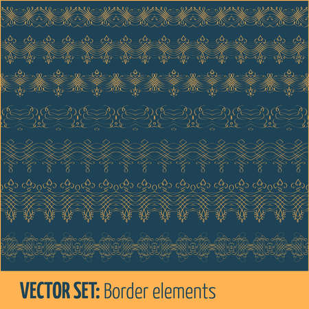 decoration elements: Vector set of border elements and page decoration elements