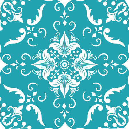 Vector damask seamless pattern element.  Vector