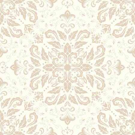 Vector damask seamless pattern element.  Illustration