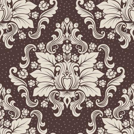carpet design: Vector damask seamless pattern element.  Illustration