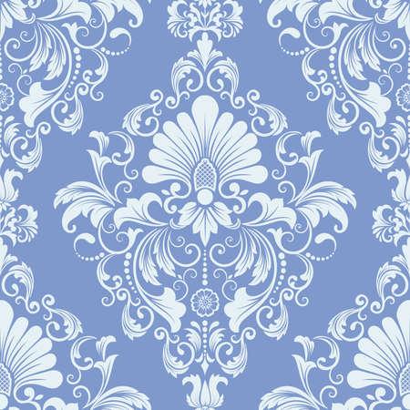 floral design: Vector damask seamless pattern element.