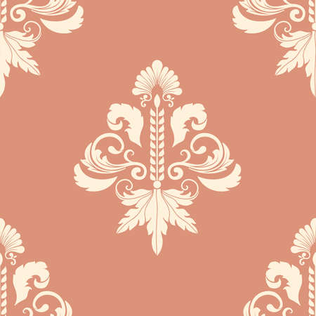 damask background: Vector damask seamless pattern element.  Illustration