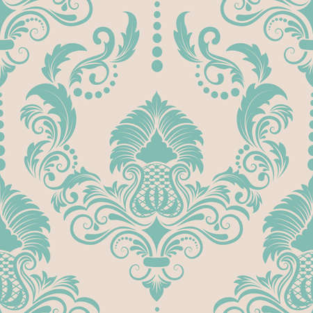 Vector damask seamless pattern element. Elegant luxury texture for wallpapers Vector