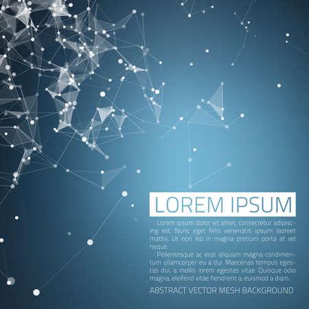 Abstracte vector achtergrond. Futuristische stijl kaart. Elegante achtergrond voor zakelijke presentaties. Lijnen, punt, vliegtuigen in 3D-ruimte.