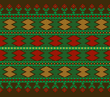 lappet: Vector illustration of ukrainian folk seamless pattern ornament.