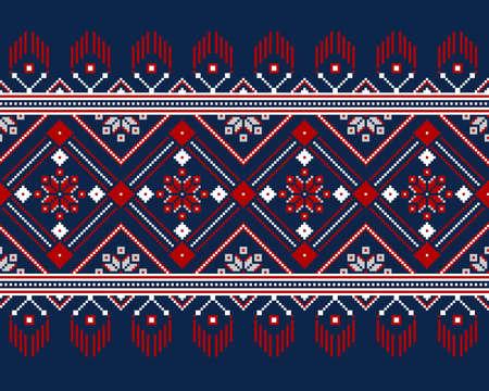 russian pattern: Vector illustration of ukrainian folk seamless pattern ornament.