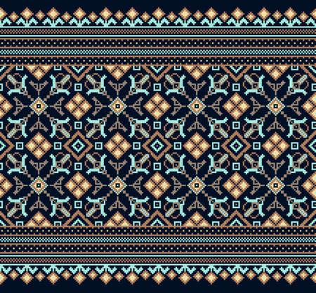 stitch: Vector illustration of ukrainian folk seamless pattern ornament.