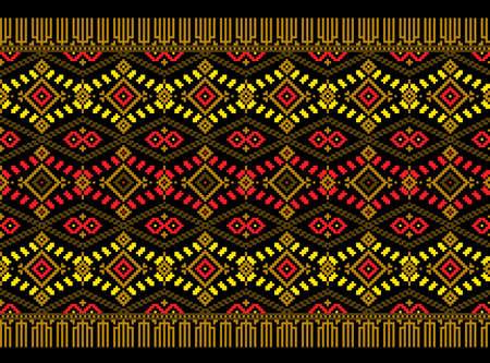 serviette: Vector illustration of ukrainian folk seamless pattern ornament.
