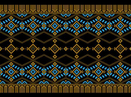 punto cruz: Ilustración del vector del popular ucraniano patrón sin fisuras ornamento. Vectores