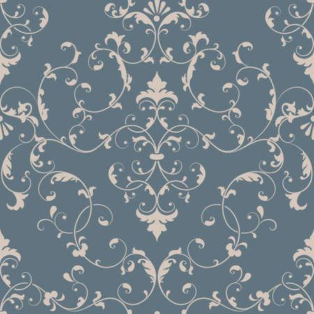Vecteur damassé élément de pattern. La texture de luxe élégant pour papiers peints, milieux et la page remplissage. Banque d'images - 35189354