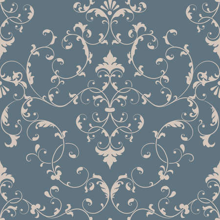 seamless pattern: Vector damask seamless pattern element. Elegant luxury texture for wallpapers, backgrounds and page fill.