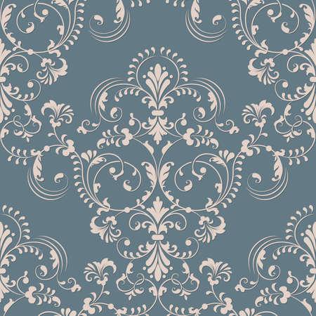 Vector damast naadloos patroon element. Elegante luxe textuur voor wallpapers, achtergronden en pagina's vullen. Stock Illustratie