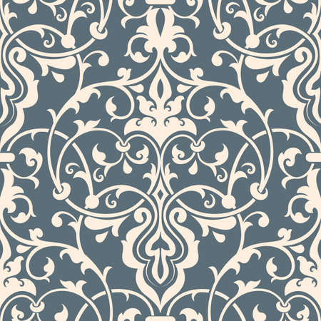 damask seamless pattern element. Elegant luxury texture for wallpapers and page fill. Vectores