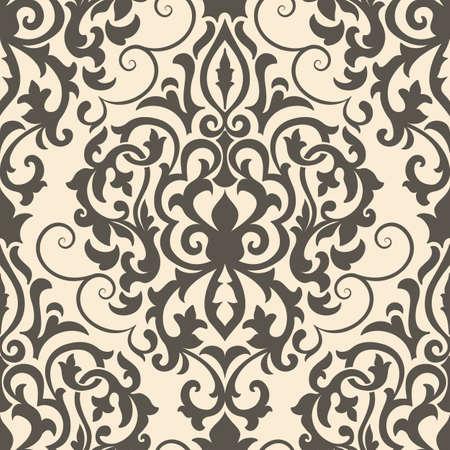 ダマスク ベクターのシームレスなパターンの要素。壁紙、背景とページ入力のためのエレガントで豪華なテクスチャです。  イラスト・ベクター素材