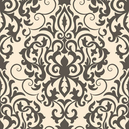 damask pattern: Vector damask seamless pattern element. Elegant luxury texture for wallpapers, backgrounds and page fill.