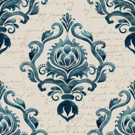 ベクターのダマスク織のシームレスなパターン要素。エレガントで豪華な壁紙、背景、ページ塗りつぶしのテクスチャです。