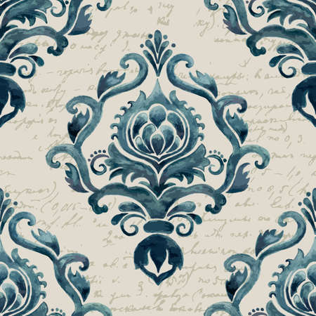 baroque wallpaper: Vector damask seamless pattern element. Elegant luxury texture for wallpapers, backgrounds and page fill.