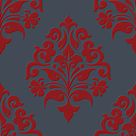 textiles: Vector damask seamless pattern element. Elegant luxury texture for wallpapers, backgrounds and page fill.