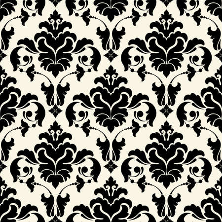 Vector damast naadloze patroon achtergrond. Elegante luxe textuur voor achtergronden, achtergronden en pagina vullen.