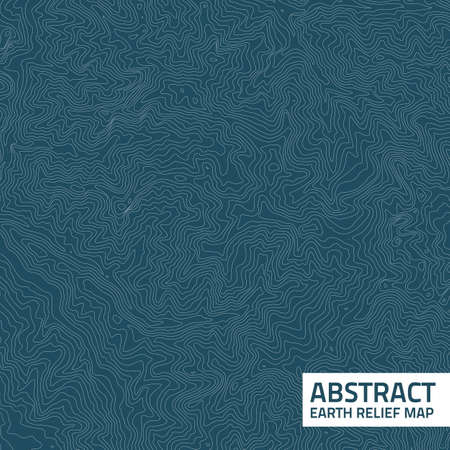 Vector abstract earth relief map. Vectores