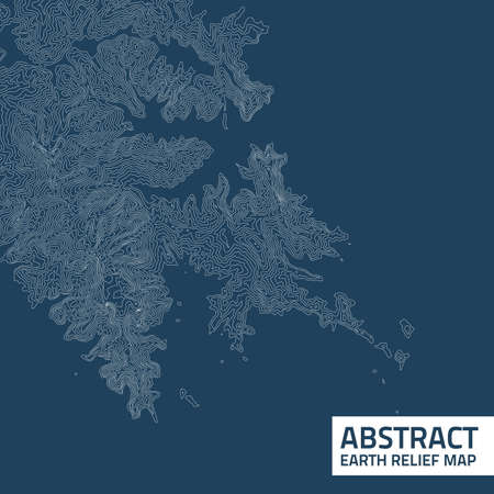 topographical: Vector abstract earth relief map. Illustration