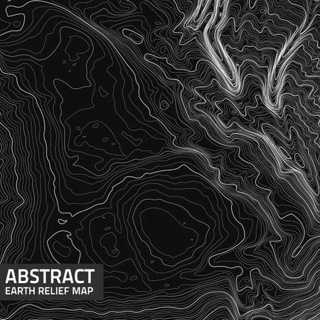 Vector abstract earth relief map. Çizim