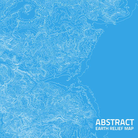 Vector abstract earth relief map. Ilustrace