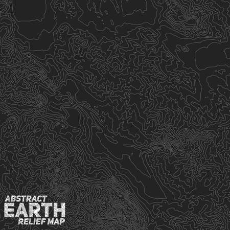Vector abstract earth relief map. Ilustração