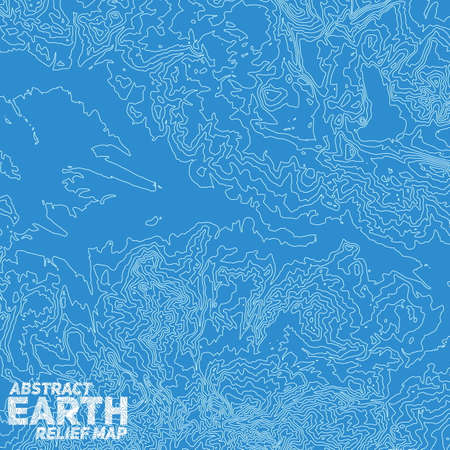 topographic: Vector abstract earth relief map. Illustration