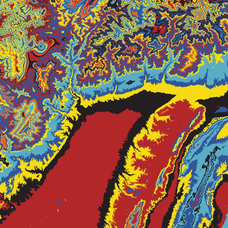 dabs: Vector abstract earth relief map. Color madness.