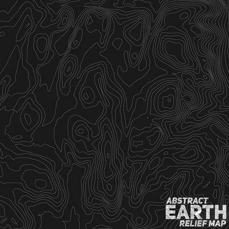 Vector abstracte aarde reliëfkaart. Stock Illustratie