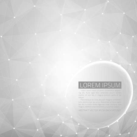 debris: Abstract vector mesh background. Futuristic technology style. Flying debris.  Illustration