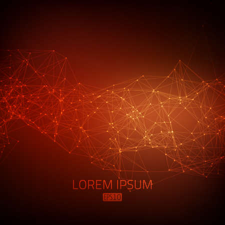 debris: Abstract vector mesh background. Futuristic technology style. Flying debris. eps10