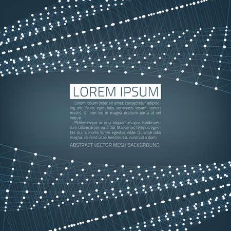 Abstract vector mesh achtergrond. Futuristische technologie stijl. Rondvliegend puin.