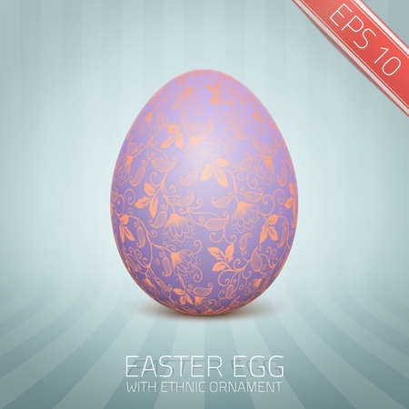 slovenian: The Easter egg with a floral pattern ornament.