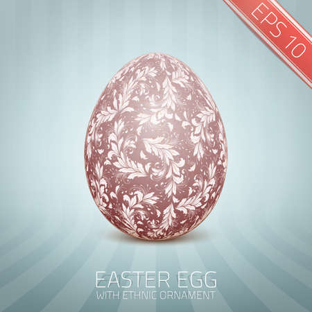 lappet: The Easter egg with a floral pattern ornament.