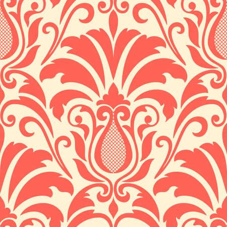 foliate: damask seamless pattern element.