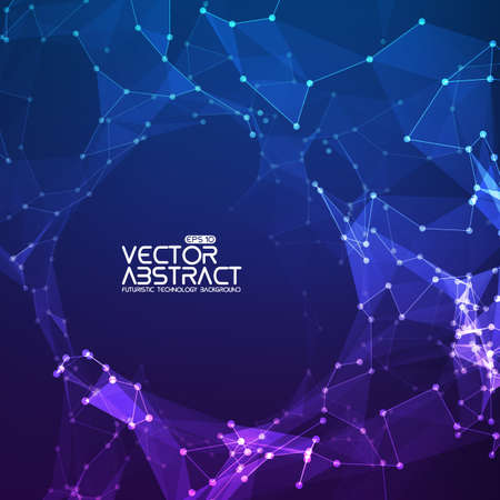 Abstract vector background. Futuristic technology style. Elegant background for business presentations.