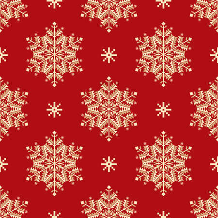 christmas element: Vector seamless patter element with elegant snowflakes. Nice background for  Christmas and New Year designs.