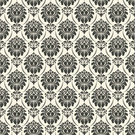 damask  seamless: Vector damask seamless pattern background. Elegant luxury texture for wallpapers, backgrounds and page fill.