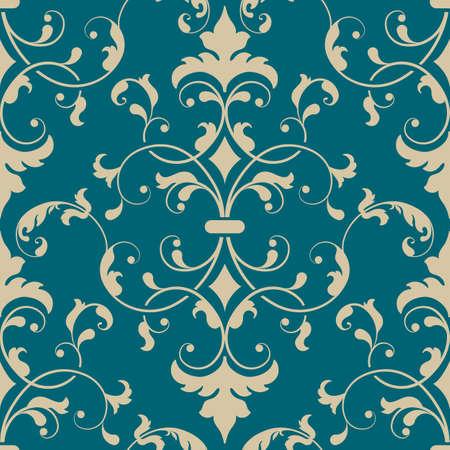 eleganz: Vector Damast nahtlose Muster-Element. Eleganter Luxus-Textur für Hintergrundbilder, Hintergründe und Seite füllen.