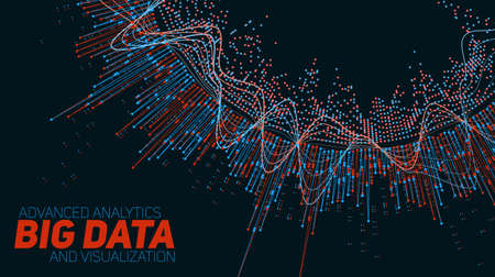 digital wave: Big data visualization. Futuristic infographic. Information aesthetic design.