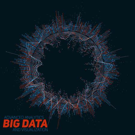 빅 데이터 시각화. 미래의 인포 그래픽. 정보 미적 디자인. 일러스트