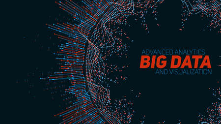 big: Big data visualization. Futuristic infographic. Information aesthetic design.