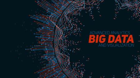 Big wizualizacji danych. Futurystyczny infografika. Informacje estetyczny wygląd. Ilustracje wektorowe
