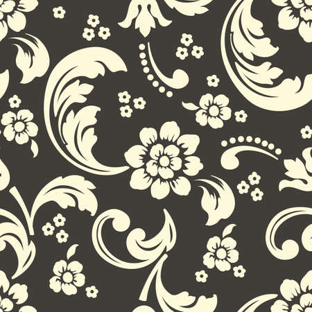 Vector Blume nahtlose Musterelement. Elegante Textur für Hintergründe. Klassische Luxus alten altmodischen floralen Ornament, nahtlose Textur für Tapeten, Textilien, Verpackung. Vektorgrafik