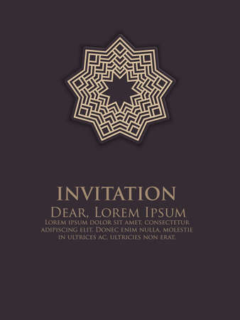 nvitation, cards with ethnic arabesque elements. Arabesque style design. Business cards. eps10