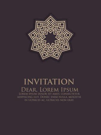NVITATION Cartes Avec Des Lments Ethniques Arabesque Conception