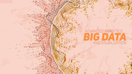 visualization: Big data visualization. Futuristic infographic. Information aesthetic design.